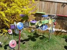 Pots, Pans and Wooden Spoons Outdoor Music Center (no tutorial, just picture) from Choices Family Daycare