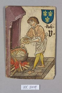"Koch [cuisinier], Frankreich aus dem ""Hofämterspiel"" für König Ladislaus ""Postumus"" (?)"