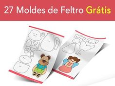 27 moldes de artesanato em feltro Diy Home Crafts, Diy Arts And Crafts, Crafts For Kids, Crochet Projects, Sewing Projects, Projects To Try, Pot Mason, Sewing Patterns, Crochet Patterns