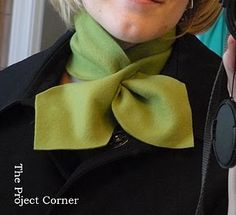 Fleece scarf, no sewing, fast and simple
