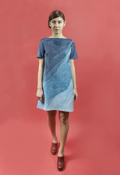 Image of Blue Gradient A-line Shift Dress - Jamie Lau Designs - American Craft Show - 2016