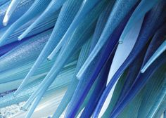 Blue Photography - Blue Glass Sculpture Fine Art Photograph - Murano Venice Italy - Abstract Surreal via etsy