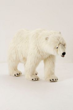 stuffed animal polar bear from Anthro