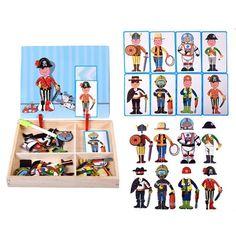 Magnetic puzzle box preschool education toys - career