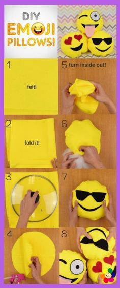 DIY Emoji Pillows by BabyFirst – Learn how to make your own Emoji Pillows at…