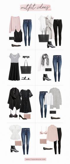 Capsule Wardrobe Outfits #wardrobebasicscasual