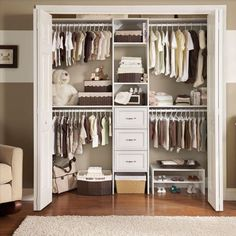 With both shelf space and hanging space, the ClosetMaid Selectives 16 in. White Custom Closet Organizer is a perfect start to redefining closet storage. Featuring 3 closet rods that expand from 30 in.