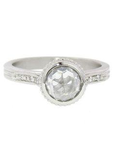 Megan Thorne: Diamond Shoulder Ring - White Gold - YLANG 23 - Ylang 23