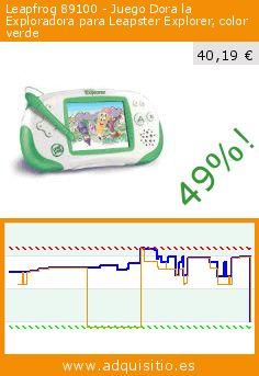 Leapfrog 89100 - Juego Dora la Exploradora para Leapster Explorer, color verde (Juguete). Baja 49%! Precio actual 40,19 €, el precio anterior fue de 79,42 €. https://www.adquisitio.es/leapfrog/leapfrog-console-leapster-0