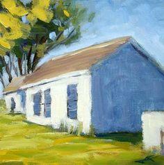 "Daily Paintworks - ""Bodega Barns"" - Original Fine Art for Sale - © J. Farnsworth"
