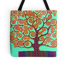 """Tree of Life"" Tote Bags by indusdreaming 