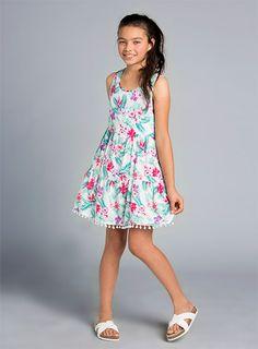 Pumpkin Patch - dresses - floral tiered dress - - milk - to Pumpkin Patch Outfit, Patch Shop, Kids Branding, Tiered Dress, Flower Power, Kids Outfits, Summer Dresses, Summer 2015, Floral