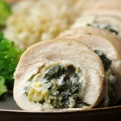 Keto Friendly Spinach & Artichoke Chicken Rolls Recipe by Tasty