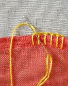 Knotted buttonhole stitch