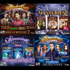 Play 14 full Hidden Object Games in this 4 disc super-bundle. Over 10,000 hidden object items to find, and thousands of beautifully detailed scenes to discover and explore. Solve fun and challenging p                                                                                                                                                     More