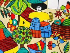 Detail of Llort Painting, Fernando Llort Gallery, San Salvador, El Salvador Photographic Print
