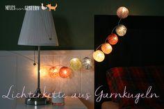 Garnkugeln-Lichterkette
