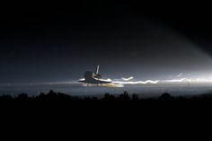 July 21, 2011. Space shuttle Atlantis (STS-135) lands at NASA's Kennedy Space Center Shuttle Landing Facility (SLF), completing the final flight of the Space Shuttle Program. Photo credit: NASA HQ