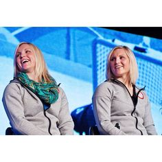 The Team USA Women's Hockey Team has a pair of twins! Jocelyne and Monique Lamoureux. #mediasummit #hockey