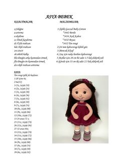 Best 12 Hi all, our coffee house is the last recipe of the efficacy of zeynep bebe …, coffee efficacy house recipe zeynep – AmigurumiHouse Crochet Dolls Free Patterns, Doll Patterns, Lilly Doll, Crochet Car, Stuffed Toys Patterns, Amigurumi Doll, House Recipe, Crafts, Tutorials