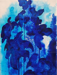 Blue Floral  by Eyvind Earle