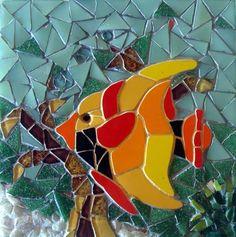 Mosaic Tile Art, Mosaic Artwork, Mosaic Crafts, Mosaic Projects, Mosaic Glass, Glass Art, Mosaic Animals, Stained Glass Paint, Mosaic Garden