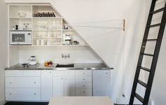 Compact Kitchen Stainless Counter Image by Matthew Williams, Remodelista