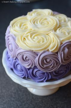 i heart baking!: purple ombre roses cake