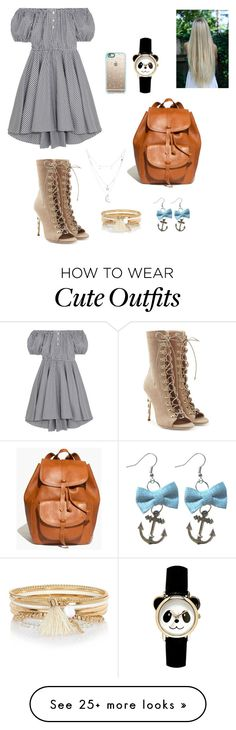 """""""Cute outfit for shopping"""" by candylynelle on Polyvore featuring Caroline Constas, Balmain, Casetify, Madewell, River Island and Charlotte Russe"""