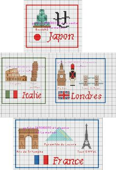 Pays - country - point de croix - cross stitch - Blog : http://broderiemimie44.canalblog.com/