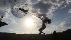 Fairy with dandelion, moving wire scultpure by Fantasywire