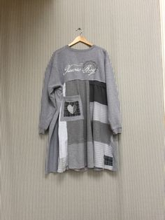 A personal favorite from my Etsy shop https://www.etsy.com/listing/482811322/upcycled-plus-size-sweatshirt-tunic