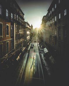 when you're out there #lisbon Lisbon, Railroad Tracks, Portugal, Train Tracks