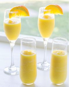 Mimosa Margaritas ready to drink... sunshine in a glass