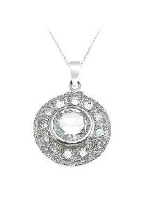 Sterling Silver Vintage Style Pendant Necklace for Women on 18 Inch Chain LaRaso & Co. $34.99. Delicate and Intricate Vintage Style Pendant. Gift Boxed. .925 Sterling Silver. 18 Inch Sterling Silver Box Chain Included