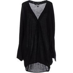 Twin-set Simona Barbieri Cardigan ($125) ❤ liked on Polyvore featuring tops, cardigans, black, lightweight cardigan, wool tops, long sleeve batwing top, cardigan top and twin set cardigan