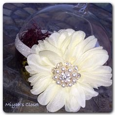 Mini Flower Petal Glitter Headband Pearl Headband by MiyahsCloset, $9.98