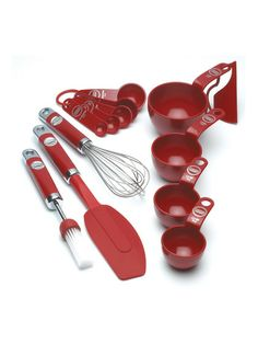 Stand Mixer Set PC) from Cutlery, Gadgets Red Kitchen Aid, Kitchen Stuff, Kitchenaid Stand Mixer, Cooking Tools, Cooking Ideas, Cake Pans, Measuring Spoons, Tool Set, Kitchen Accessories