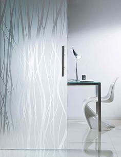 Modern Design Of Acid Etched Glass Doors