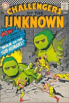 Challengers of the Unknown #54 - War of the Sub-Humans! (Issue)