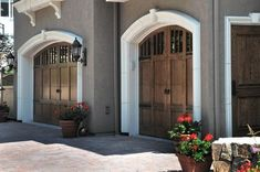french country garage doors | arched garage doors!