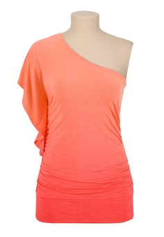 One shoulder ombre top - maurices.com