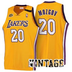 reputable site 0b43a 86d3f los angeles lakers 20 timofey mozgov home gold new swingman ...