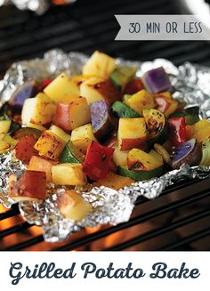 Dice red, yellow, white or russet potatoes with your favorite vegetables for a flavorful side dish on the grill. Try this Grilled Potato Bake today! Pre Cooked Chicken, How To Cook Chicken, Grilling Recipes, Cooking Recipes, Healthy Recipes, Free Recipes, Budget Recipes, Meal Recipes, Easy Cooking