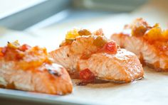 Love this simple recipe for salmon...eat some whole grain brown rice and brussels with it...