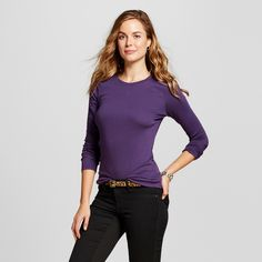 8d8df5ee The Women's Ultimate Long Sleeve Crew Tee by Merona™ is softer and more  durable than