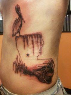 louisiana tattoo by white2tattoo4.deviantart.com on @deviantART
