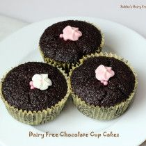 Dairy free chocolate cupcakes...made with coconut milk..Hershey's recipe