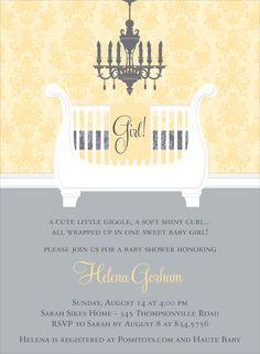 yellow grey invitation
