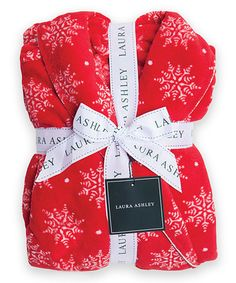 This Holiday Red Snowflake Fleece Robe is perfect! #zulilyfinds